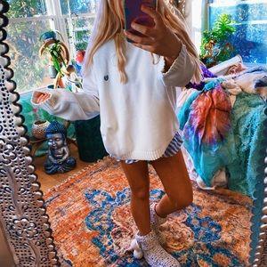 Pure White Beachy Chunky Oversized Sweater ✨